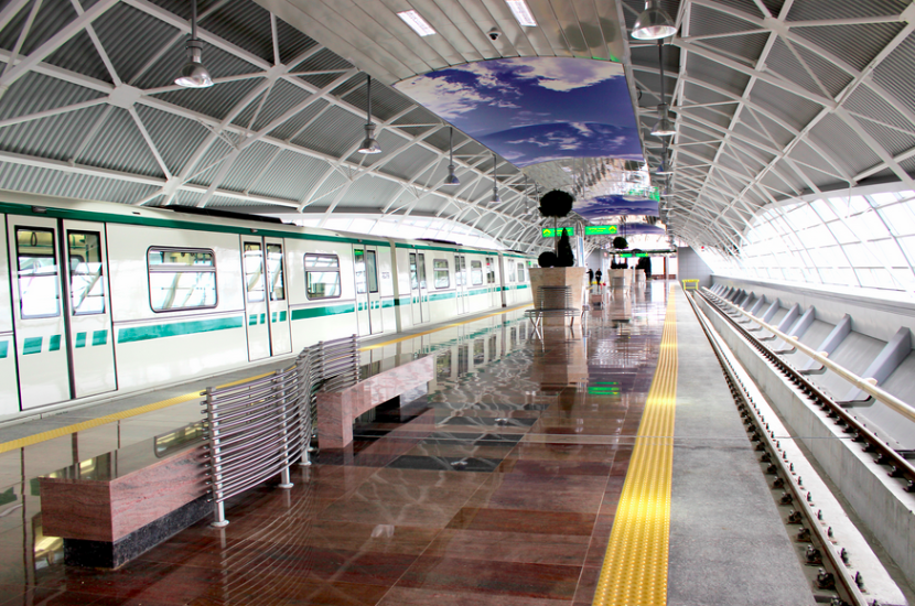 A new metro extension at SOF Terminal 1 connects the airport to the city as well as Bulgaria's national train system. Photo courtesy of G.P. Group Ltd.