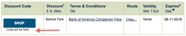 Alaska companion fare discount code