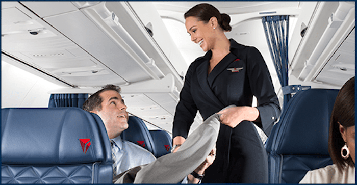 Delta's first class aims to offer convenience from the time you check-in until departing your arrival airport.