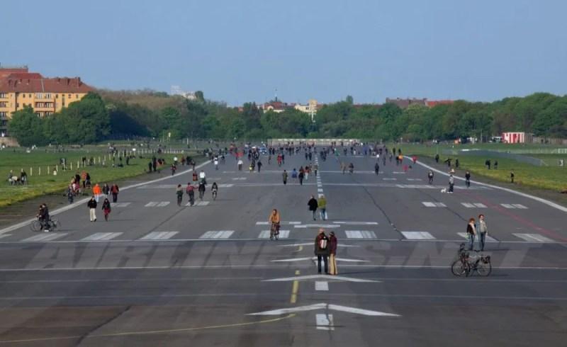 One of the former runways at Tempelhof.
