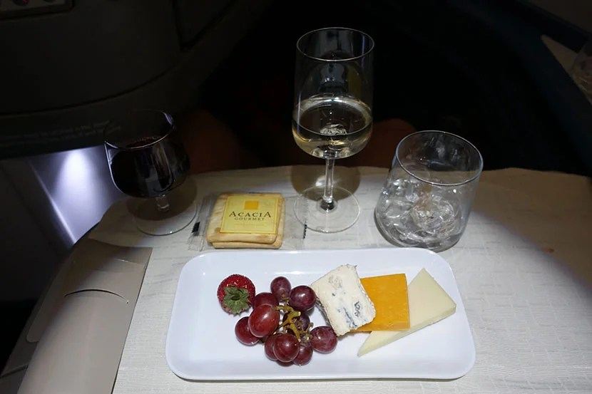 My dessert of cheese and wine.