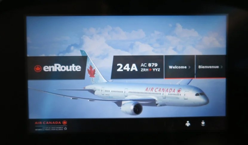 A nice IFE welcome screen... once I finally got it.