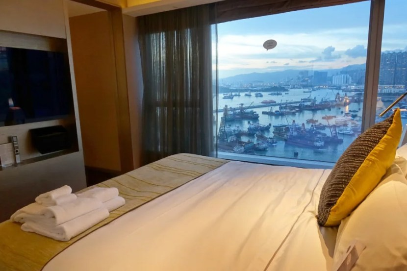 Fantastic Suite bedroom at night.