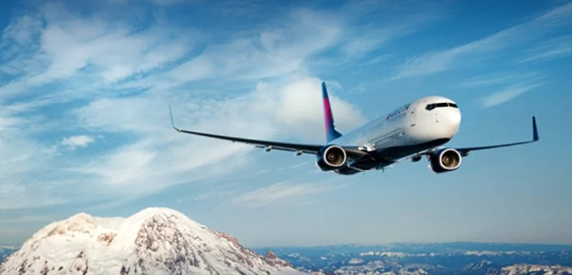 Delta plane Mount Rainier
