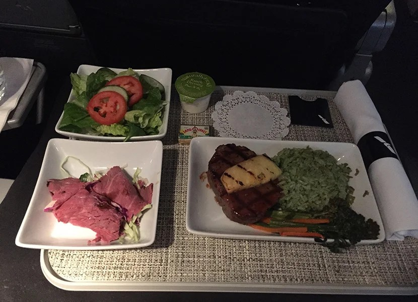 It wasn't the best, but it certainly beats most domestic first class meals.