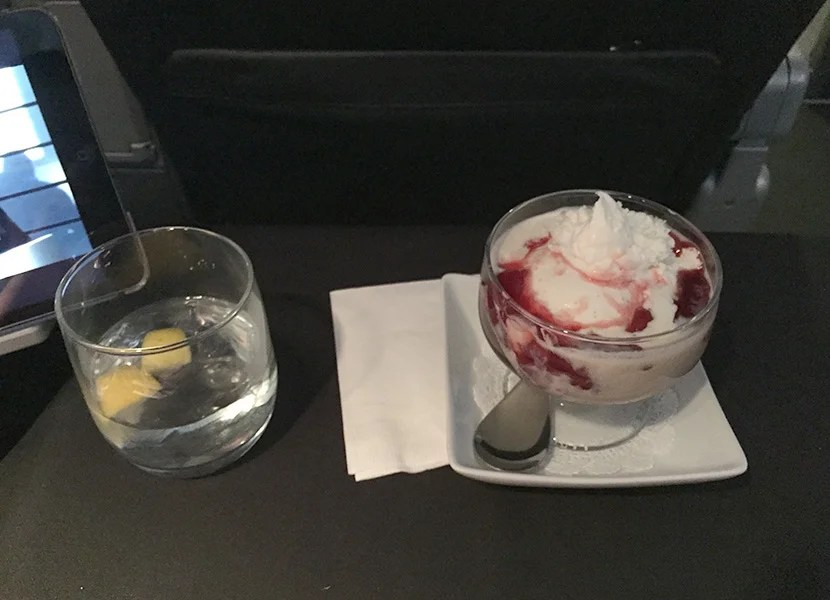 I appreciated this more than almost everything else on the flight - the ice cream sundae definitely hit the spot.