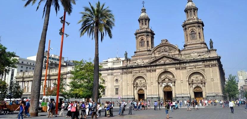 Plaza de Armas in central Santiago.