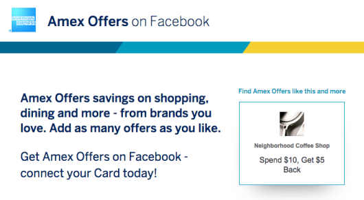 Amex offers on Facebook can be a very lucrative program.