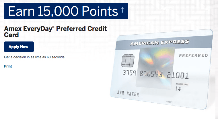 The Amex EveryDay Preferred Credit Card can offer you a great way to earn points