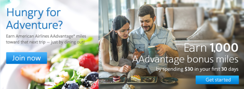 Dining out is another great way to earn bonus AAdvantage miles.