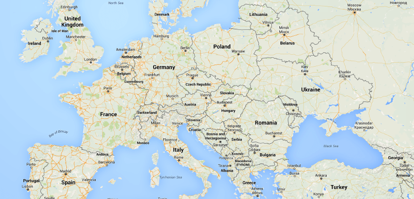 Europe Map Featured