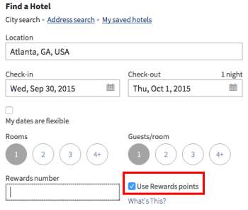 Finding free nights on Marriott.com is easy.