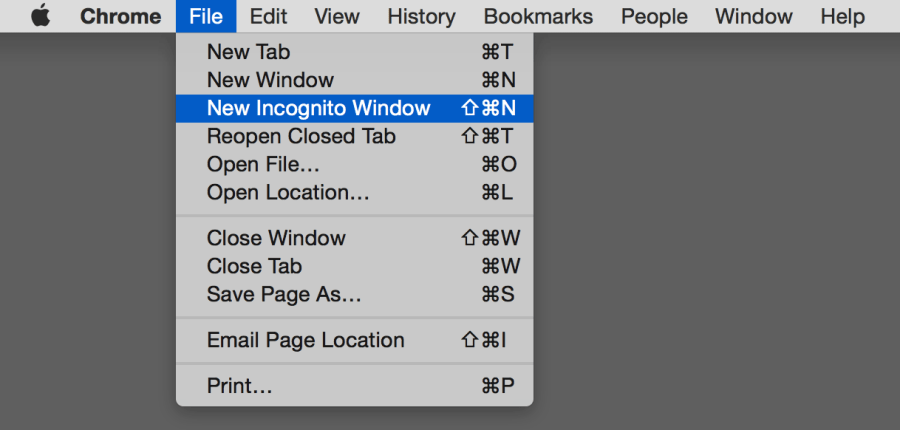 how to open incognito window on mac