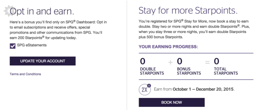 Opt in to earn 200 Starpoints.