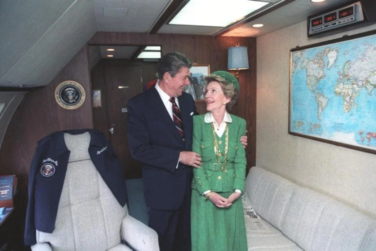 President Reagan and Nancy Reagan in the state room in 1984. Photo courtesy: Reagan Foundation.