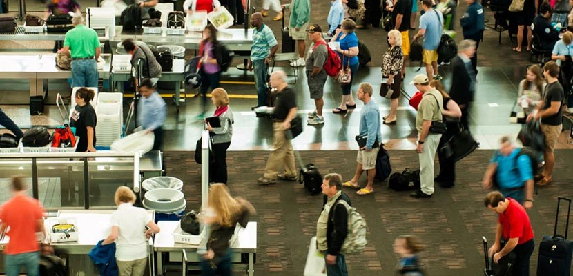 Security is already hectic without being flagged by the TSA. Photo courtesy of Shutterstock.