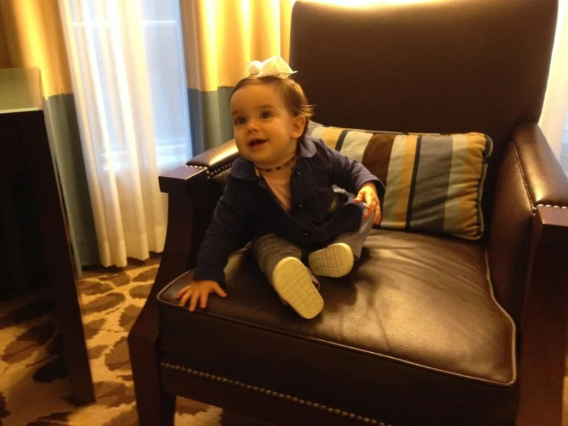 Evy in particular loved the furniture in the room!