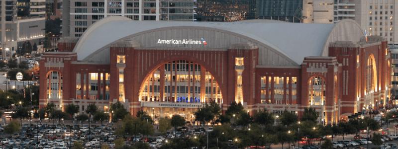American Airlines Center in Dallas, Texas.