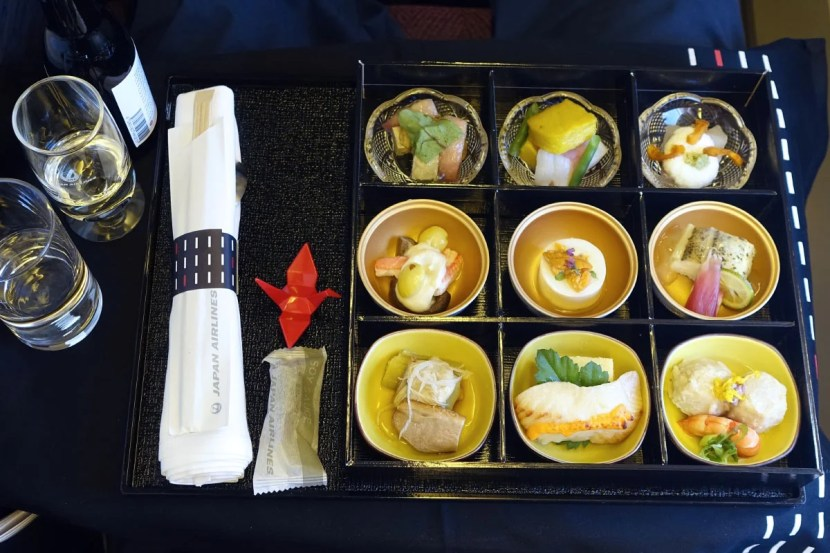 Japanese meal appetizers.