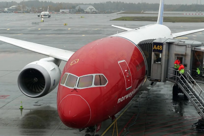 Our 787 after landing at OSL.