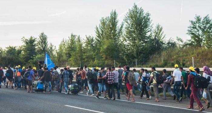 Syrian refugees enroute to Austria on September 4, 1025. Photo courtesy of Wikipedia.