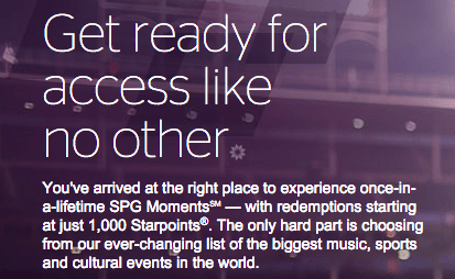SPG Moments has some fantastic opportunities at reasonable point levels.