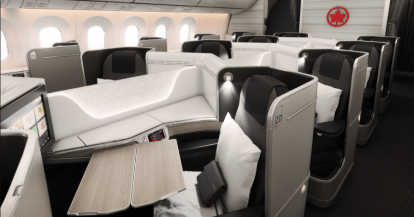 Air Canada's 787 business class looks quite swanky, and it's within reach when you use this card for a year!