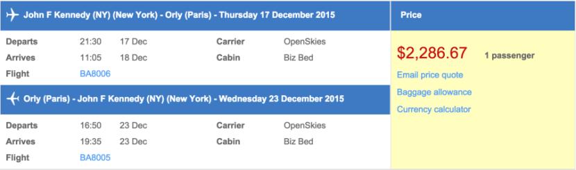 An OpenSkies flight for $.
