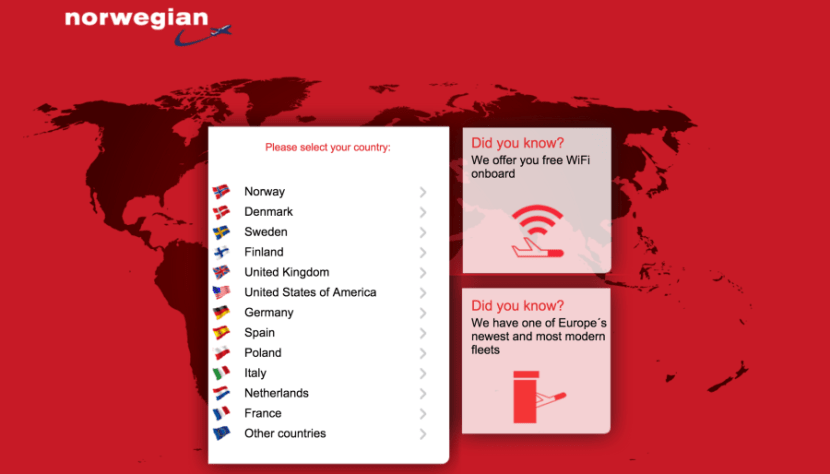 Norwegian offers free Wi-Fi, but only on 737 flights.