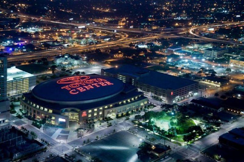 Toyota Center in Houston, Texas.