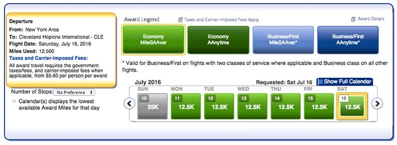 You can book a one-way award flight from NYC on American for 12,500 miles.
