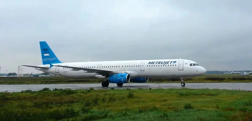 A Metrojet A321 similar to the plane that crashed Wednesday.