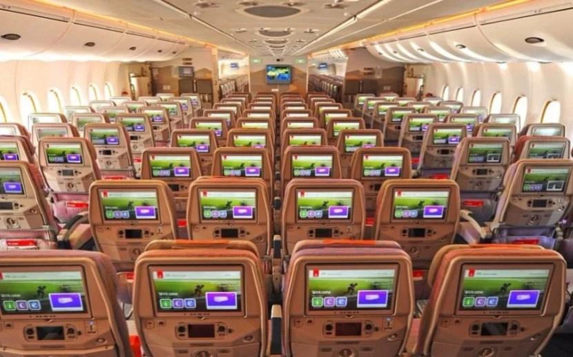 Emirates' A380 economy class.