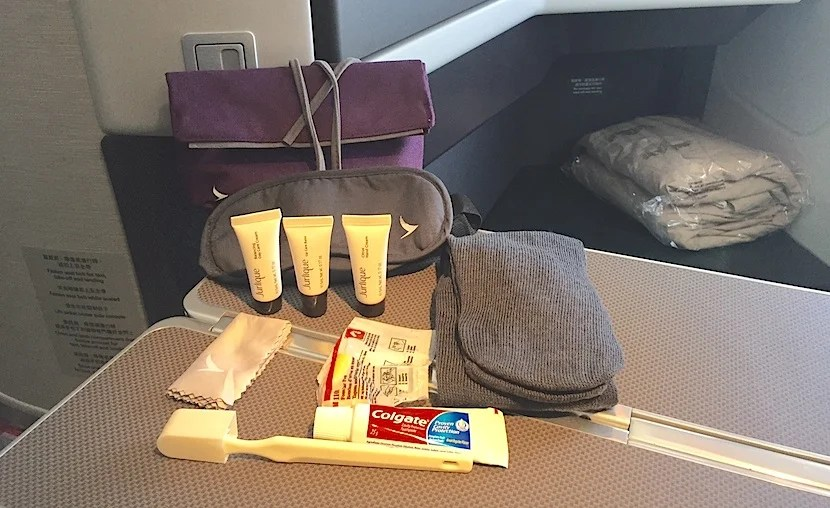 Cathay's current amenity kits contain Jurlique products.