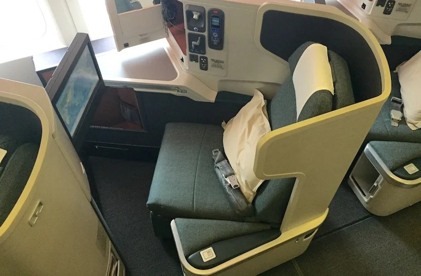 It's not the newest business-class seat, but I was still excited to fly it.