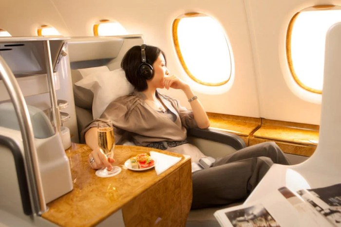 Emirates A380 business class.