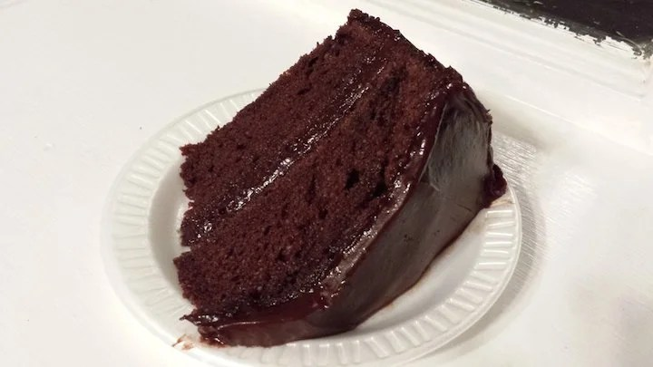 The secret ingredient in Portillo's chocolate cake is mayonnaise. Photo by Meghan H. on Yelp.