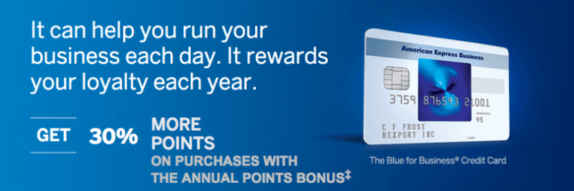 The Amex Blue for Business is offering a sign-up bonus that's double the usual points.