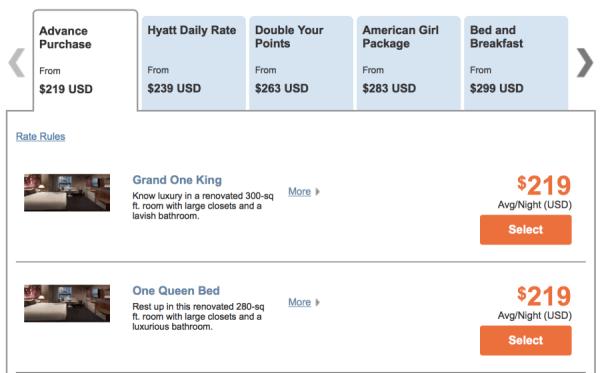 Grand Hyatt New York for $219 per night.