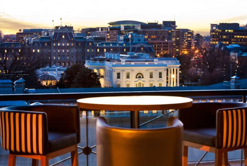 The W's POV lounge has a great perspective on Washington D.C.