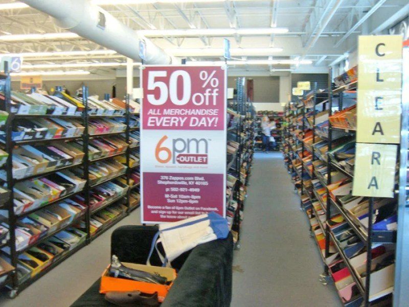 """Who has time to spell out """"clearance""""? Get to shopping already! Photo courtesy of Angel S. / Yelp."""