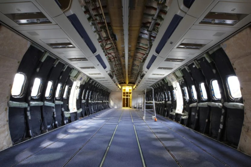 Aircraft without its interior. Photo courtesy of Shutterstock.