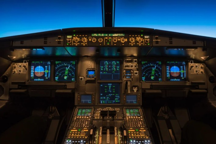 The first major phase of a major-airline pilot's training is learning what everything in the cockpit actually *does.* Photo courtesy of Shutterstock.