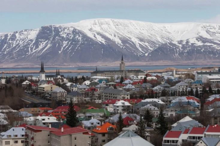 Downtown Reykjavik, Iceland in winter. Photo courtesy of Shutterstock.