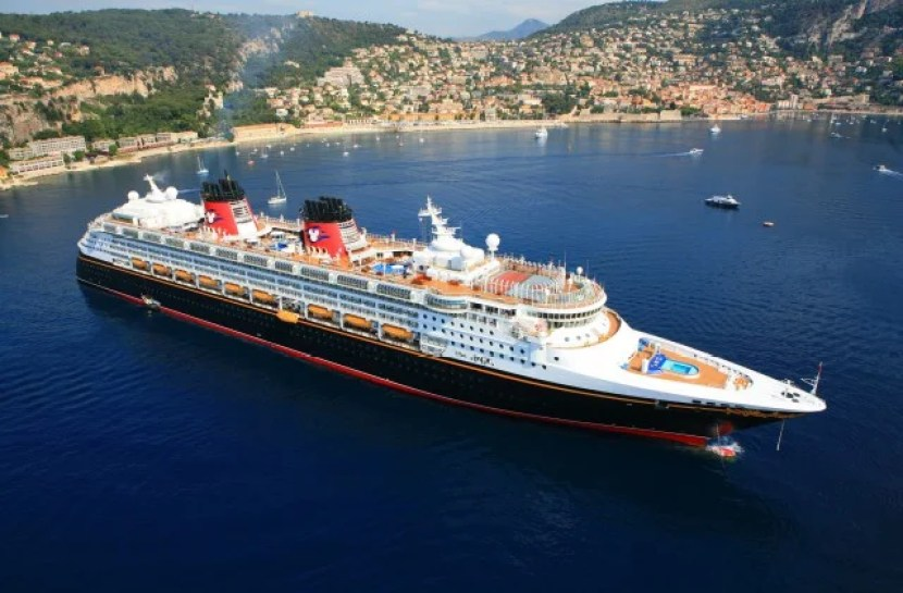 A Disney Cruise Line ship on the French Riviera.