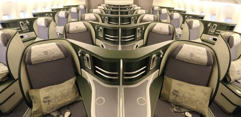 EVA Air's stylish Royal Laurel cabin. Photo courtesy of EVA Air.