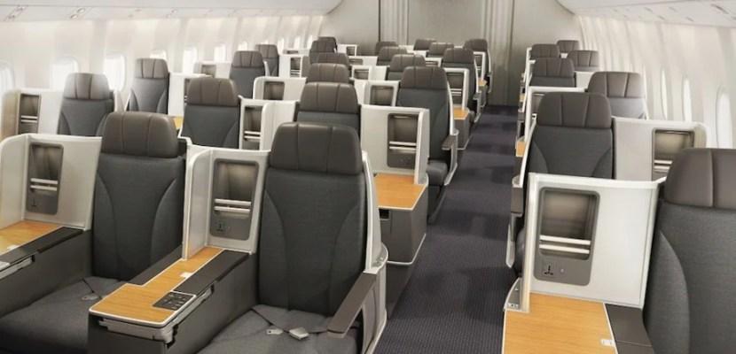 Business class on AA's 767.