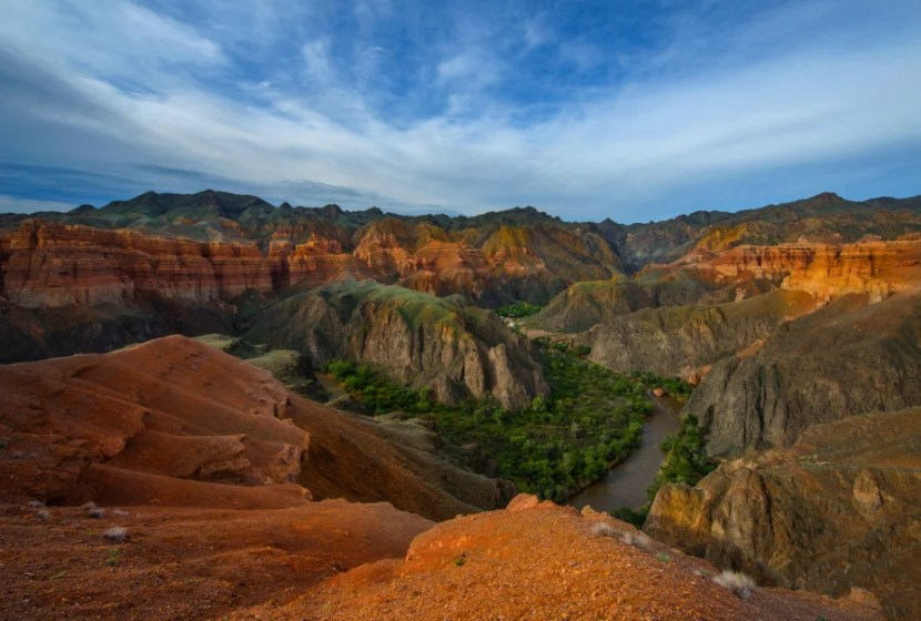 Charyn Canyon is known as the Grand Canyon of Kazakhstan. Photo courtesy of Shutterstock.