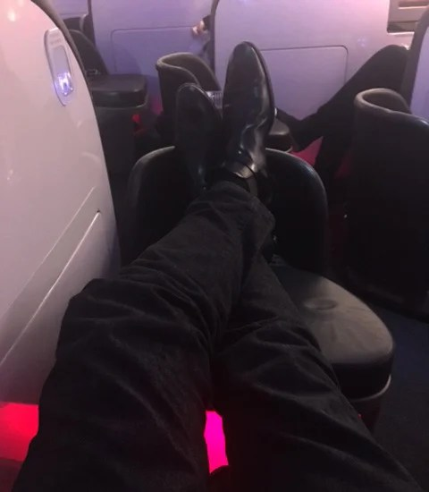There's some leg room, but it's not the best.