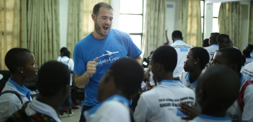 Brian in Accra at Peace Jam